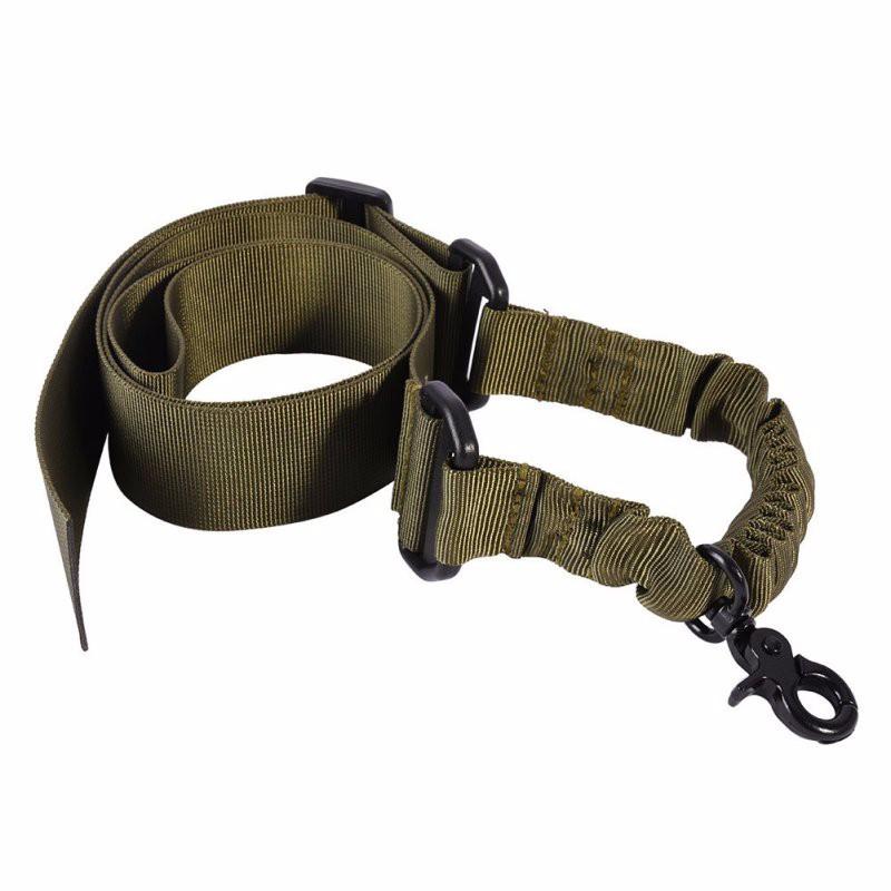 Універсальний збройовий ремінь, тактичний одноточковий (Airsoft, Страйкбол) зелений.