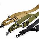 Універсальний збройовий ремінь, тактичний одноточковий (Airsoft, Страйкбол) зелений., фото 5