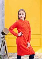 """Теплое платье  для девочек """"Арани Orange"""", фото 1"""