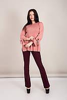 Елегантний подовжений жіночий светр з бантами на рукавах Туреччина, фото 2