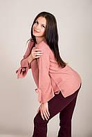 Елегантний подовжений жіночий светр з бантами на рукавах Туреччина, фото 3