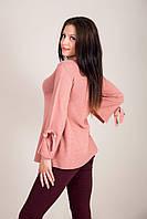 Елегантний подовжений жіночий светр з бантами на рукавах Туреччина, фото 5