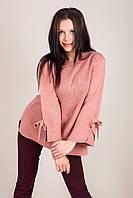 Елегантний подовжений жіночий светр з бантами на рукавах Туреччина, фото 6