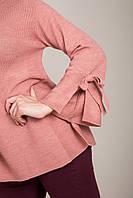 Элегантный удлиненный женский свитер с бантами на рукавах Турция, фото 7