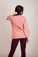 Елегантний подовжений жіночий светр з бантами на рукавах Туреччина, фото 8