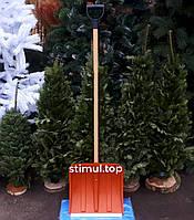 Лопата для снега 41х43 см Лемира Пластиковая лопата снегоуборочная Лопата снігова зелена