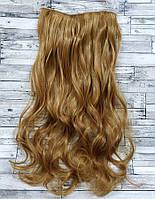 Трессы волнистые блонд пшеничный волосы на клипсах 120г