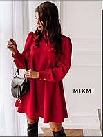 Нарядное женское платье красный белый горчица чёрный
