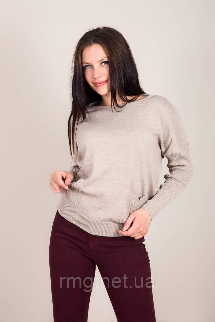 Женский свитер с боковыми карманами Турция