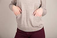Женский свитер с боковыми карманами Турция, фото 6