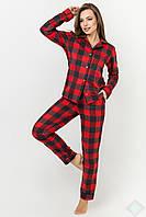 Женская пижама  КРИСТИ БАЙКА DONO (PK2986, КЛЕТКА КРАСНЫЙ\ЧЕРНЫЙ)