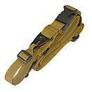Універсальний збройовий ремінь, тактичний триточковий (Airsoft, Страйкбол) пісочний., фото 4