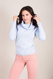 Стильний жіночий светр з горлом хомут Туреччина