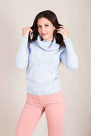 Стильный женский свитер с горлом хомут Турция
