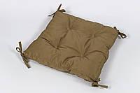 Подушка на стул Lotus Optima 40*40*5 с завязками горчичный