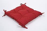 Подушка на стул Lotus Optima 40*40*5 с завязками красный