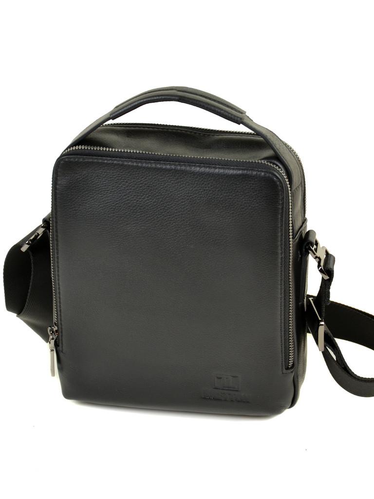 Мужская сумка-планшет из натуральной мягкой кожи черная BRETTON BE 3516-4 черная
