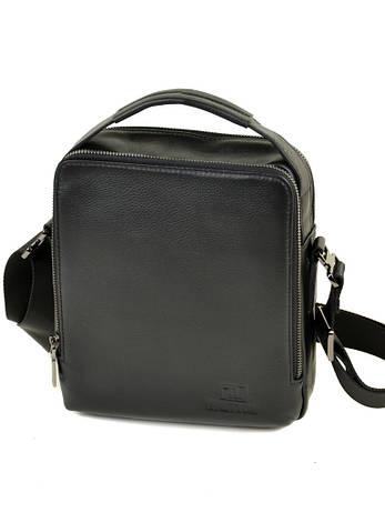 Мужская сумка-планшет из натуральной мягкой кожи черная BRETTON BE 3516-4 черная, фото 2