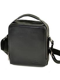 Чоловіча сумка-планшет з натуральної м'якої шкіри чорна BRETTON BE 3516-4 чорна