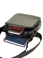 Мужская сумка-планшет из натуральной мягкой кожи черная BRETTON BE 3516-4 черная, фото 3