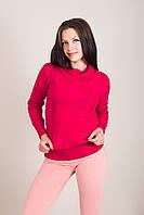 Удлиненный женский свитер с узорами и горлом хомут Турция, фото 5