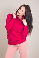 Подовжений жіночий светр з візерунками і горлом хомут Туреччина, фото 6