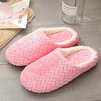 Тапочки домашние женские комнатные. Теплые тапки  37-38 р. (розовые)