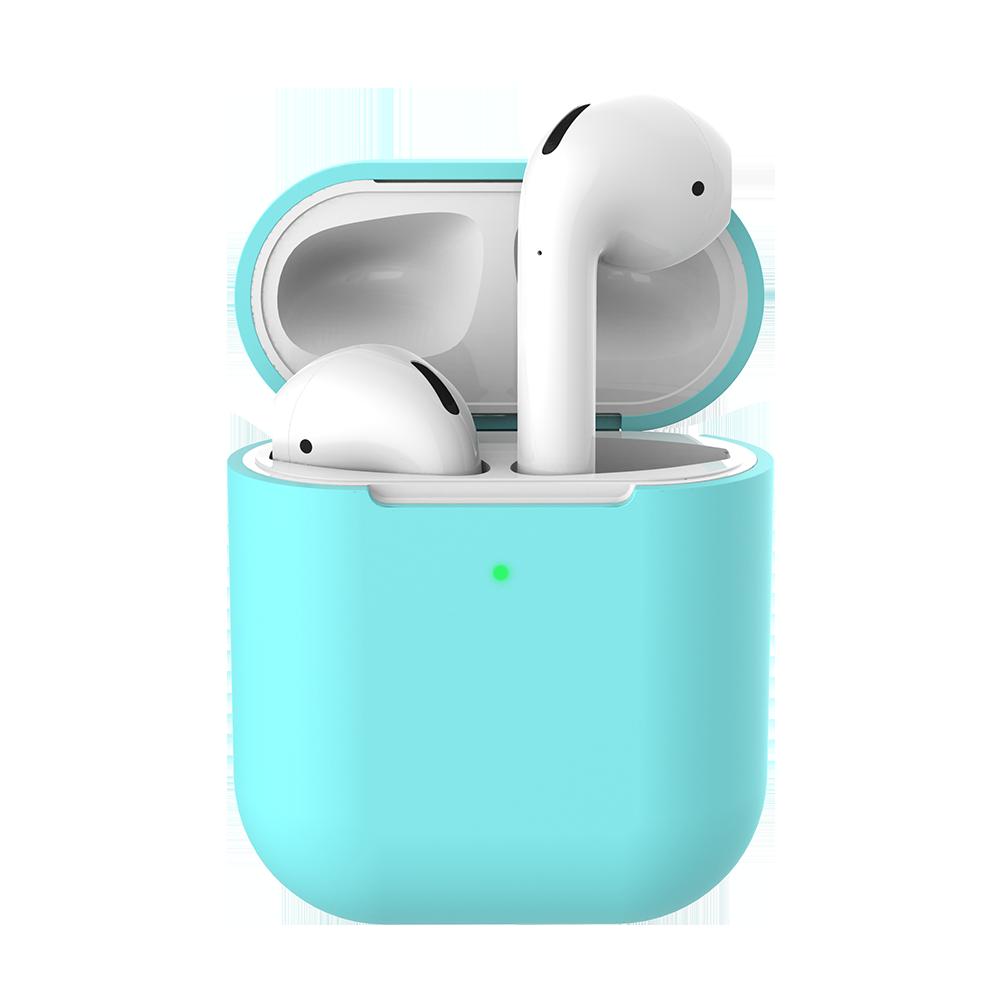 Силіконовий захисний чохол - Airpods Apple. Бірюзові. Клас А