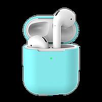 Силиконовый противоударный чехол - Airpods Apple. Бирюзовые. Класс А