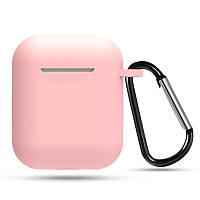 Силиконовый противоударный чехол - Airpods Apple. Розовые. Класс А, фото 1