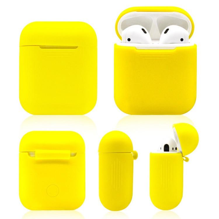 Силиконовый противоударный чехол - Airpods Apple. Желтые. Класс А