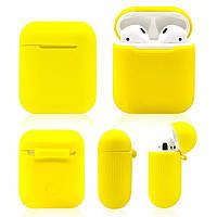 Силиконовый противоударный чехол - Airpods Apple. Желтые. Класс А, фото 1