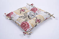 Подушка на стул Lotus 45*45 Niona с завязками персиковый