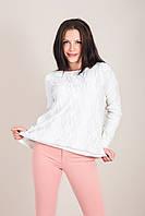 Стильный женский свитер с узорами Турция, фото 4