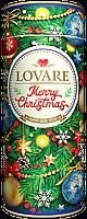 Рождественский чай Lovare Merry Christmas c лепестками розы 100 г в подарочной упаковке
