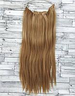 Трессы прямые комплект блонд пшеничный волосы на клипсах 60см 140г #27