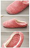 Тапочки домашние женские комнатные. Теплые тапки  37-38 р. (темно-розовые), фото 8