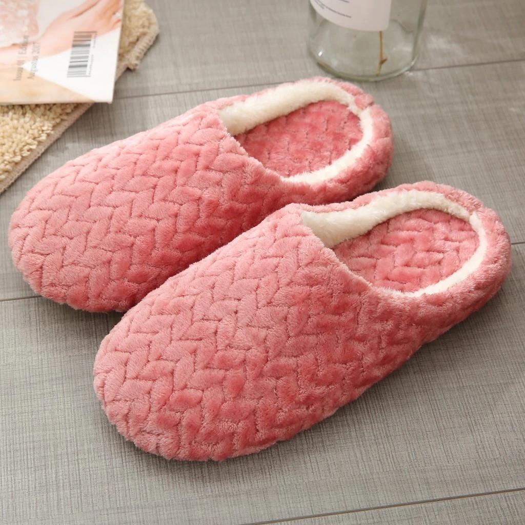 Тапочки домашние женские комнатные. Теплые тапки  37-38 р. (темно-розовые)