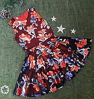 Нарядное платье для девочки Перламутр, р. 128-146, чёрно-красное