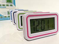 Настольные говорящие часы с подсветкой на батарейках MOD-9905/1957 (120 шт/ящ)