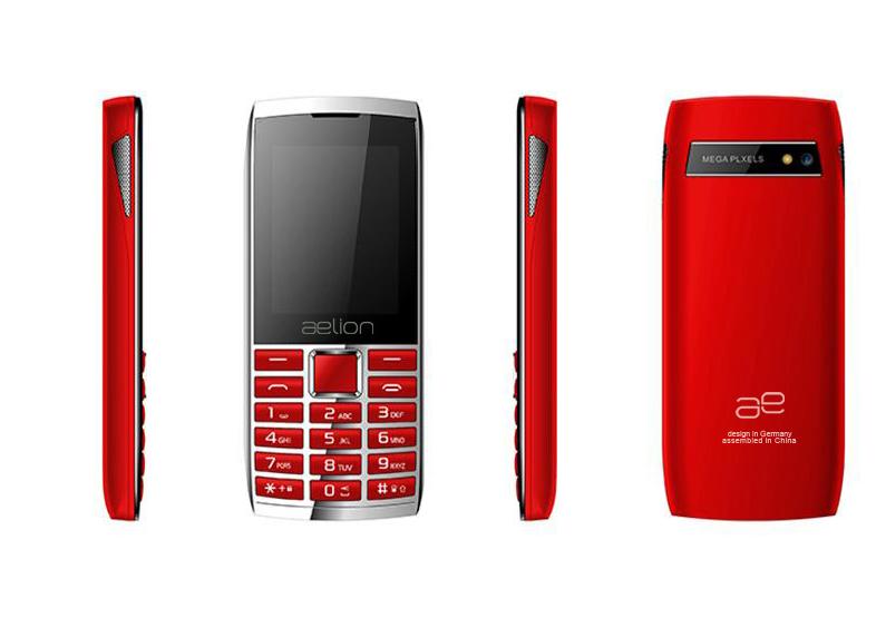 Кнопочный телефон с камерой и большим емким аккумулятором бюджетный AELion A600 Metal/Red