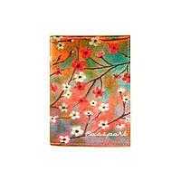 """Обкладинка на паспорт """"Цвітіння сакури"""""""