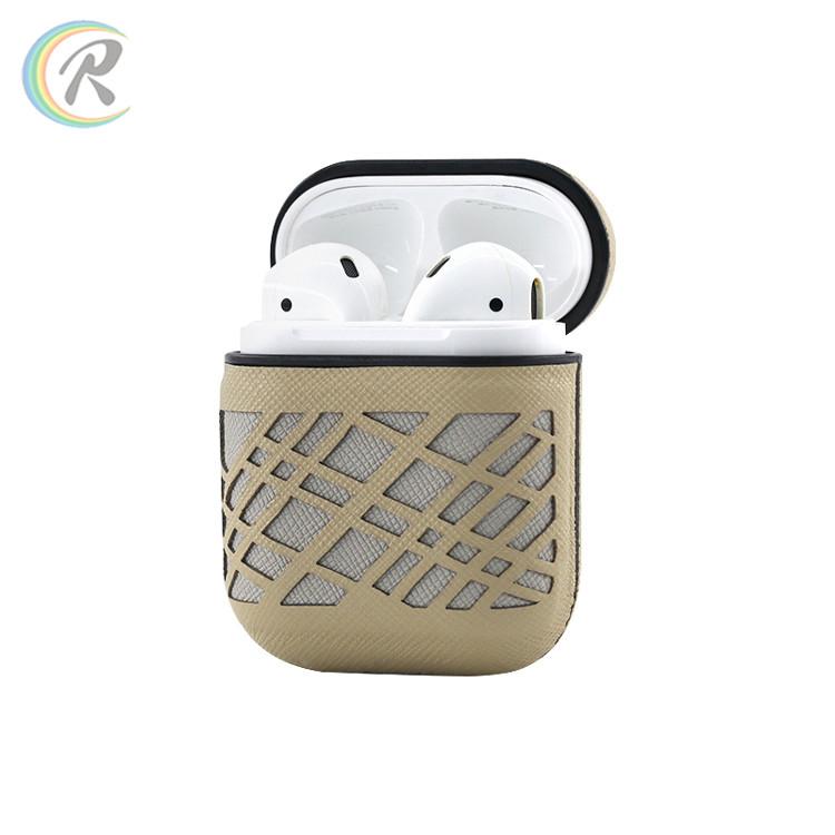 Противоударный чехол - Airpods Apple. Темно серый. Узор полосы