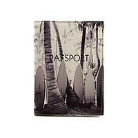 """Обкладинка на паспорт """"Чорно білий серфінг"""""""