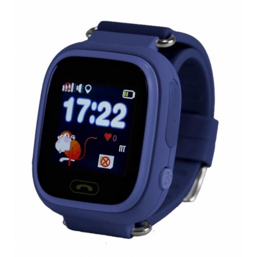 Детские умные GPS-часы Wonlex Smart Baby Watch Q90 темно-синие