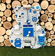 Развивающая доска Бизиборд Мишка размер 50*60  Лучший подарок  бізіборд синий