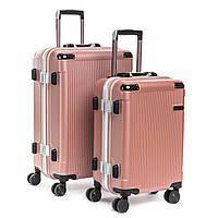 Дорожная Чемодан 2/1 ABS-пластик 04 pink замок, фото 1