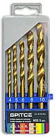Набор сверел по металлу 5шт (4-10мм) Spitce 20-904 | Набір свердел по металу 5шт (4-10мм) Spitce 20-904