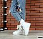 Зимние белые ботинки натуральная кожа на платформе Зима, фото 2