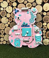 Развивающая доска Бизиборд Мишка размер 50*60  Лучший подарок  бізіборд для девочки